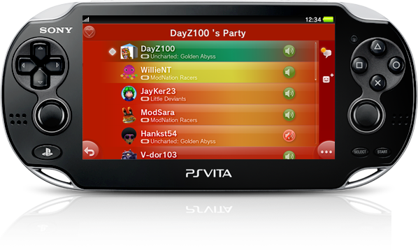 PS Vita System Cross Game Chat